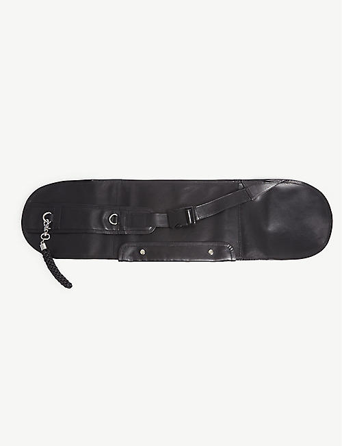 OBERKAMPF Leather skateboard bag
