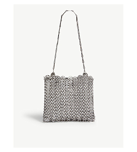 863e19a980dc ... PACO RABANNE Iconic chain shoulder bag (Silver. PreviousNext