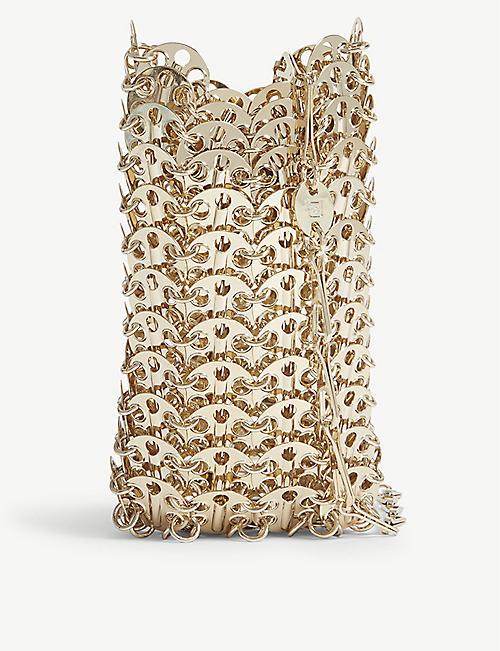 c11bfefb09f0 PACO RABANNE Mini gold-toned chain brass bag