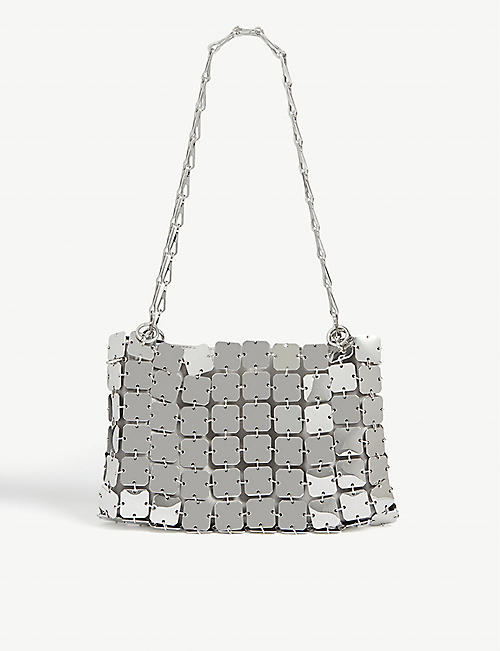 PACO RABANNE Iconic square disk shoulder bag
