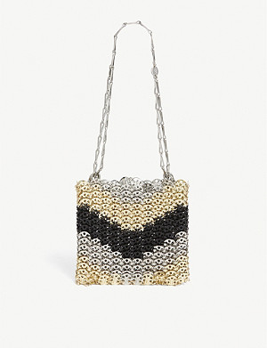 PACO RABANNE An Iconic colour-blocked silver bag