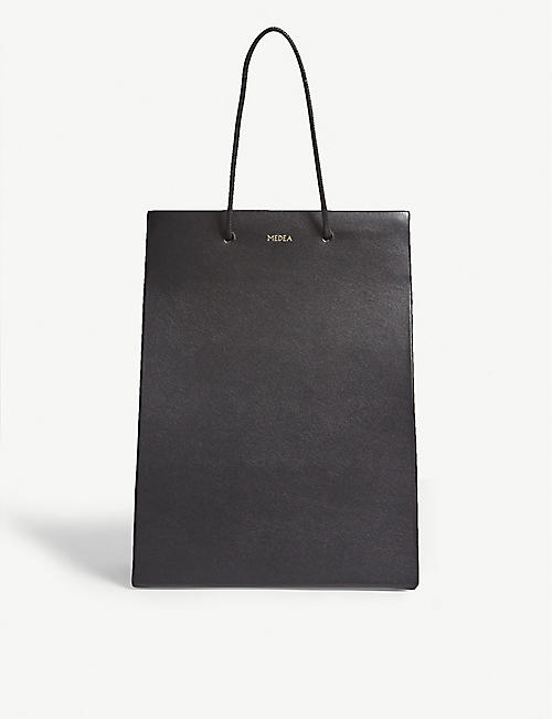 MEDEA Medium leather box tote