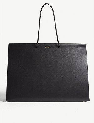 MEDEA Large leather box tote