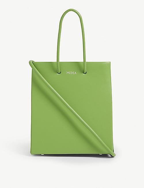 0175eb5d84 MEDEA Short Prima leather tote bag