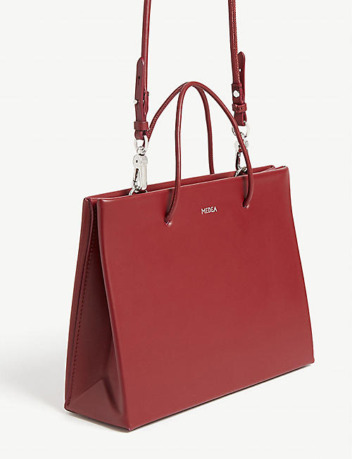 MEDEA Hanna leather cross-body tote bag