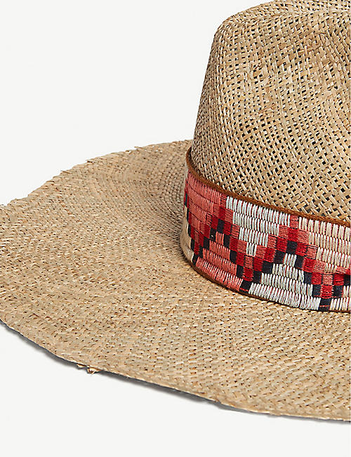 SUPER DUPER HATS Jacquard band straw hat