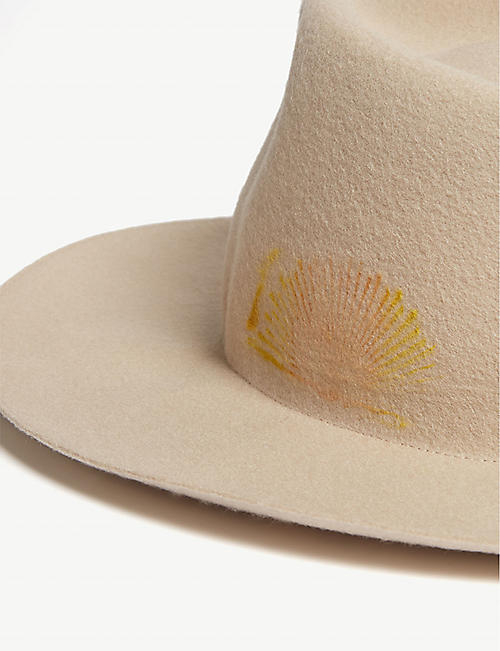 SUPER DUPER HATS Sunrise print wool felt hat