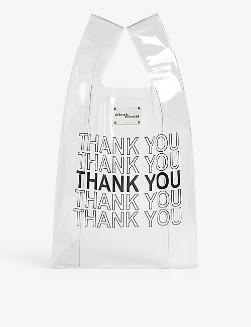 GELAREH MIZRAHI Thank you PVC tote