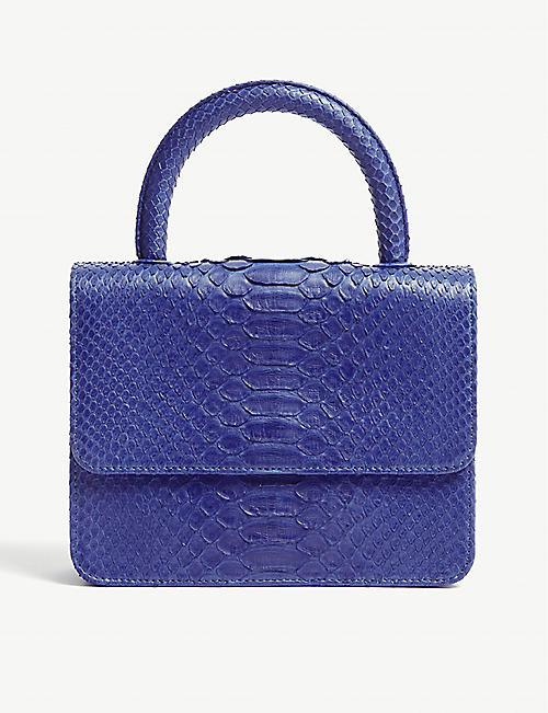 GELAREH MIZRAHI Python-embossed leather mini