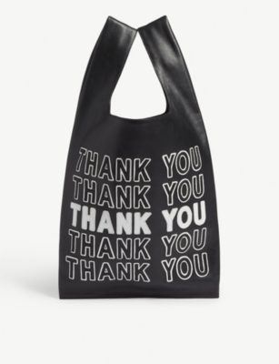 GELAREH MIZRAHI Thank you leather tote