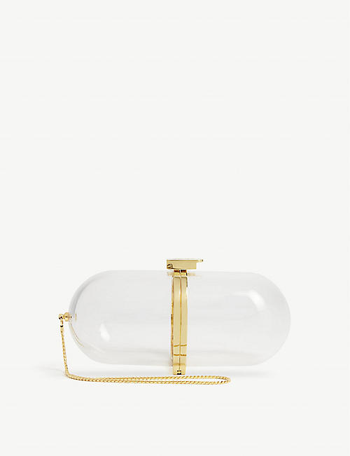 MARZOOK Pill transparent clutch