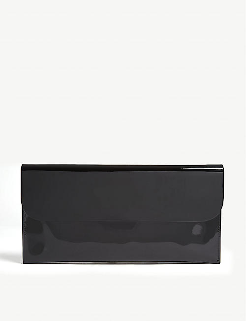 ISAAC REINA Patent leather clutch