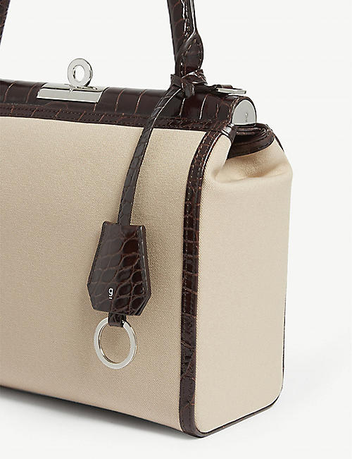 GU DE Edge Canvas top handle bag