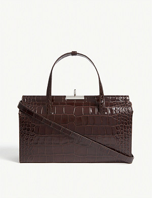 GU DE Margot reptile-effect leather shoulder bag