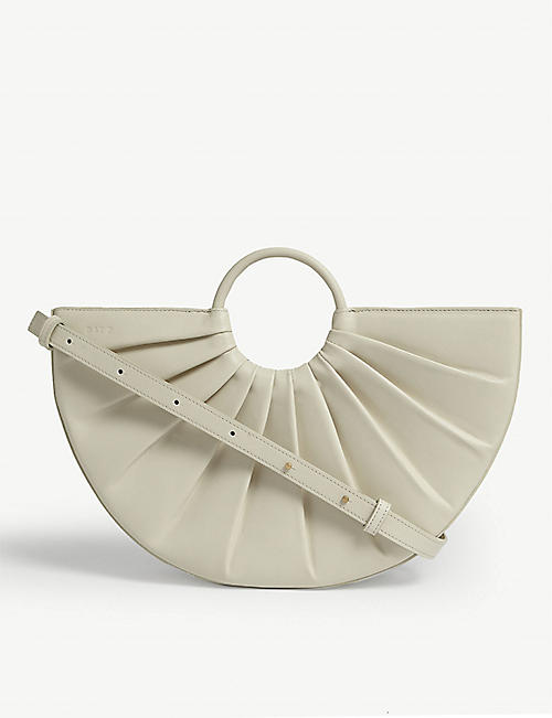 DLYP Pleated Bender leather midi crossbody bag