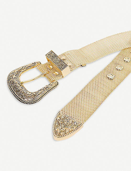 B-LOW THE BELT Frank metallic mesh belt