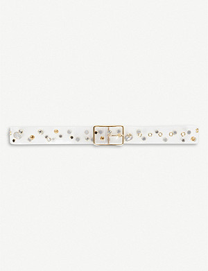 BELOW THE BELT Gemma studded vinyl belt