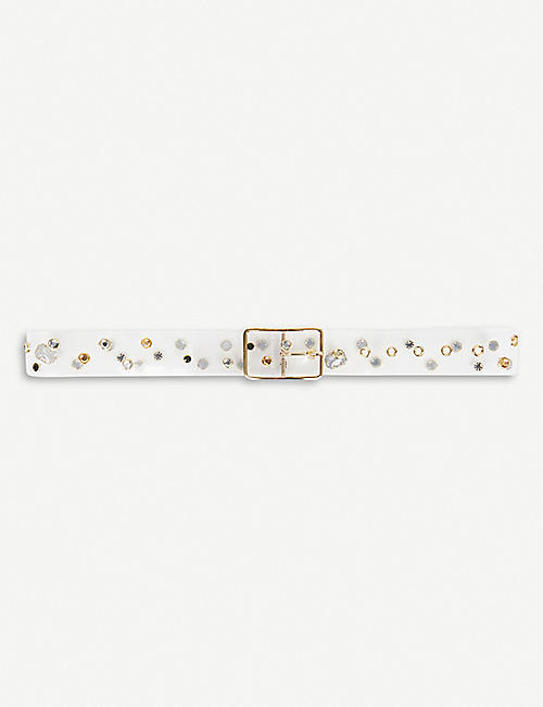 B-LOW THE BELT Gemma studded vinyl belt
