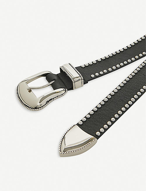 BELOW THE BELT Taos studded leather belt