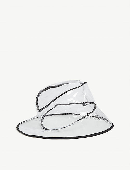 CLYDE Transparent vinyl bucket hat