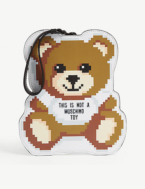 MOSCHINO Pixel teddy clutch