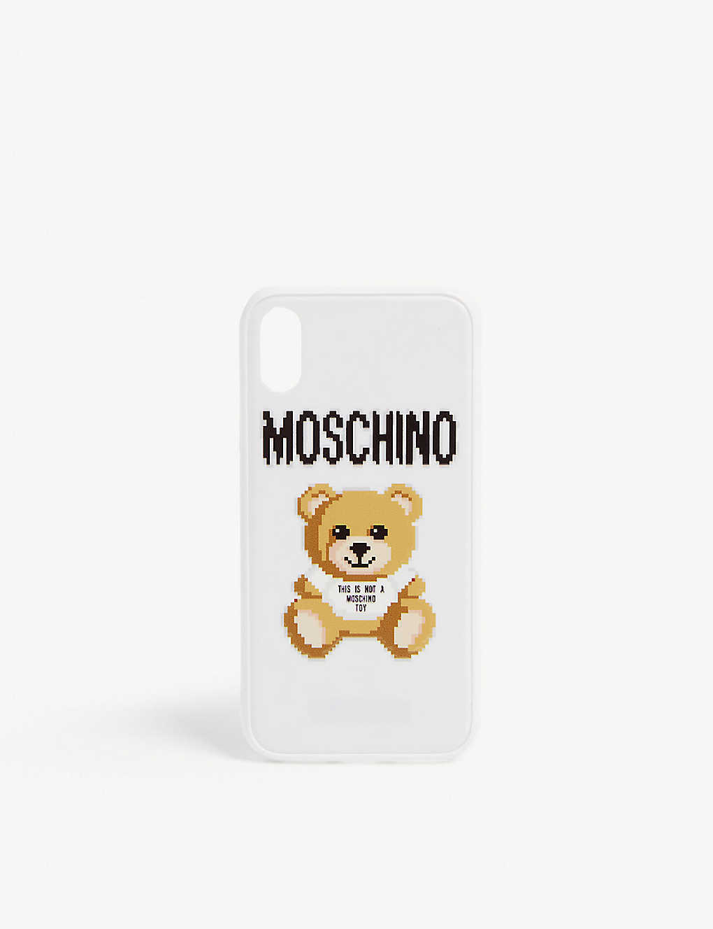 55f48a8866 MOSCHINO - Pixel teddy iPhone X case | Selfridges.com