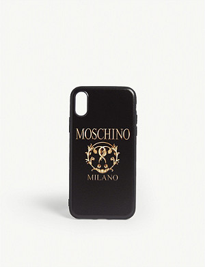 MOSCHINO Double question mark logo iPhone XS case