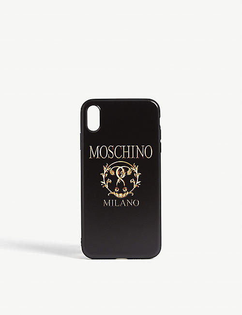 MOSCHINO Double question mark logo iPhone XS Max case