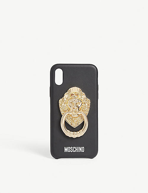 MOSCHINO Lion knocker iphone xs case