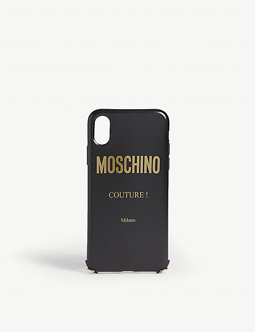 MOSCHINO Couture logo iPhone XS case and neck chain