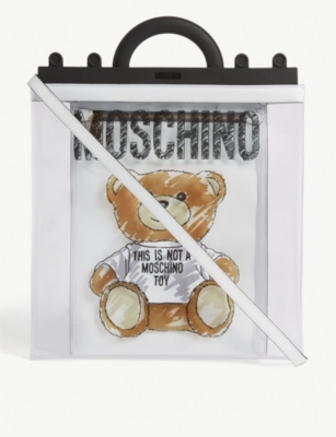 MOSCHINO PVC Teddy Bear tote