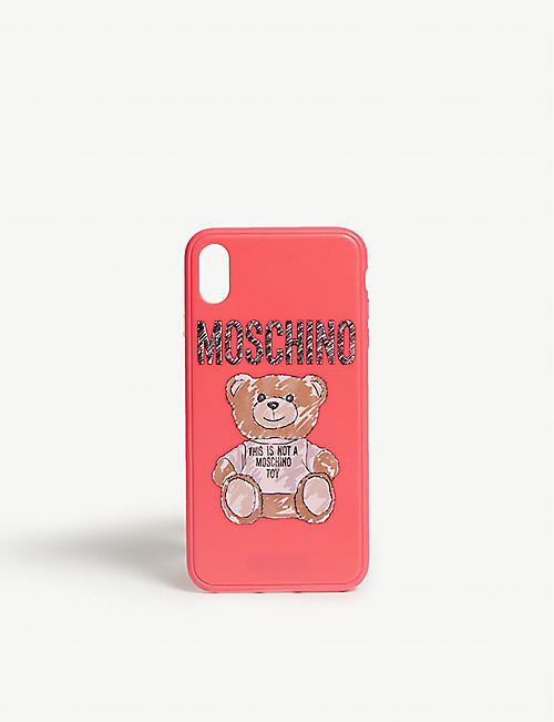 6f7b8c641e1 MOSCHINO Sketched teddy iphone XS max case