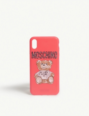 MOSCHINO Sketched teddy iphone XS max case