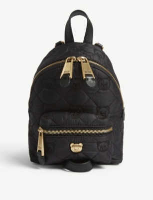 MOSCHINO Mini quilted Toy bear backpack