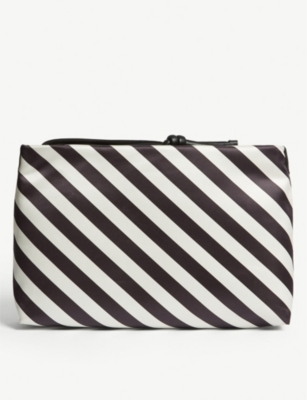 DRIES VAN NOTEN Diagonal stripe pouch bag