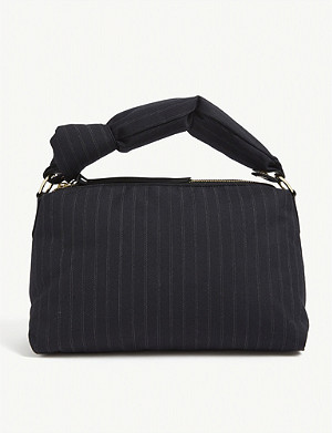 DRIES VAN NOTEN Padded pinstripe shoulder bag