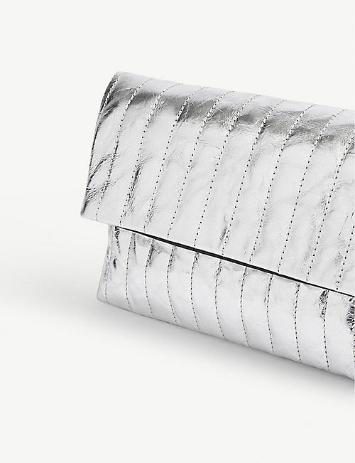 DRIES VAN NOTEN Metallic clutch bag