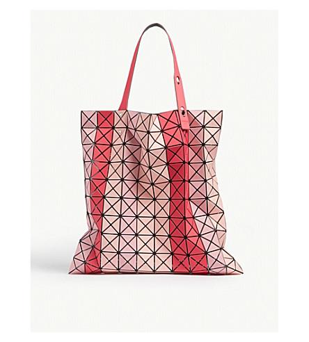 5c78e15ef81b BAO BAO ISSEY MIYAKE Striped Prism tote bag (Pink+mix