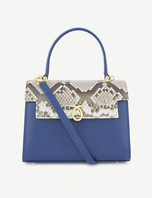 LAUNER Judi lizard-leather tote