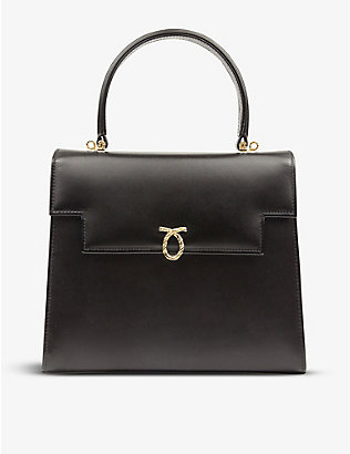 LAUNER: Traviata leather tote bag