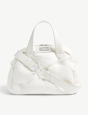 MAISON MARGIELA Glam top handle small leather bag