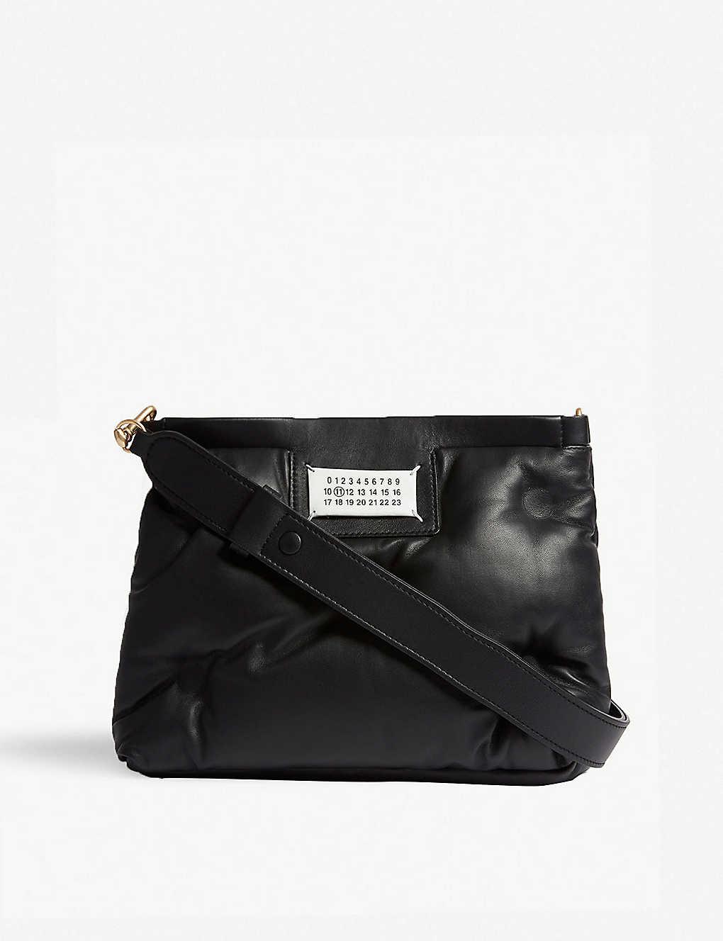 c2d483f2520a MAISON MARGIELA - Glam Slam small leather pillow bag | Selfridges.com