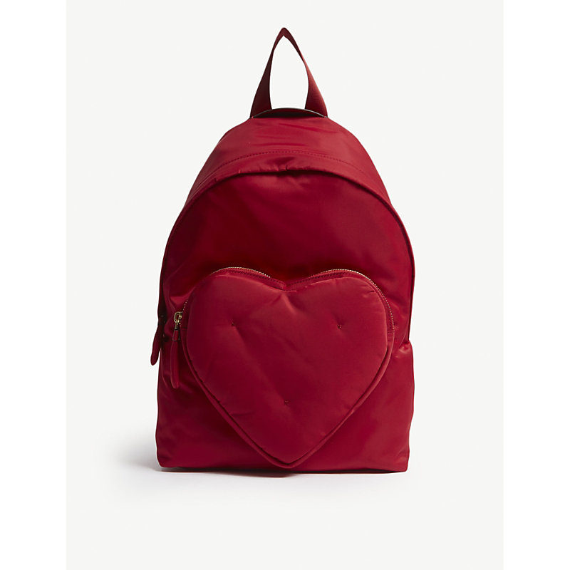 Chubby Heart Nylon Backpack - Red