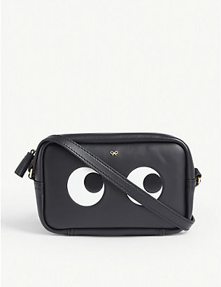 ANYA HINDMARCH: Eyes mini leather cross-body bag