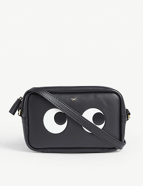 ANYA HINDMARCH Eyes mini leather cross-body bag 56887bf957c14