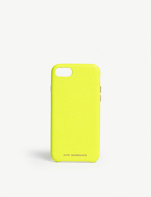 ANYA HINDMARCH: Neon leather iPhone 7/8 case