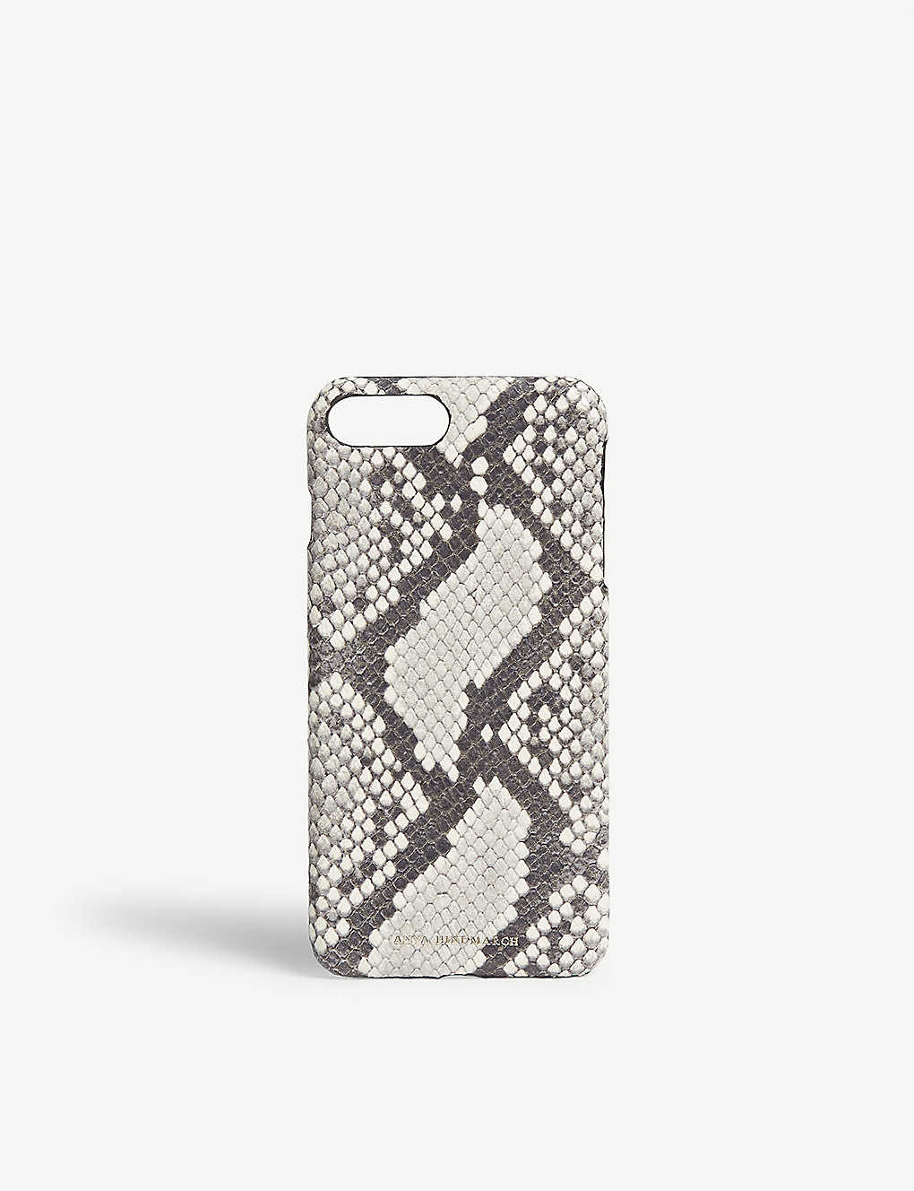 newest 143e0 03ca2 ANYA HINDMARCH - Snake-embossed leather iPhone 7/8 Plus case ...