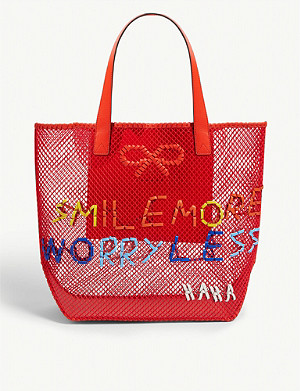 ANYA HINDMARCH Smile woven tote