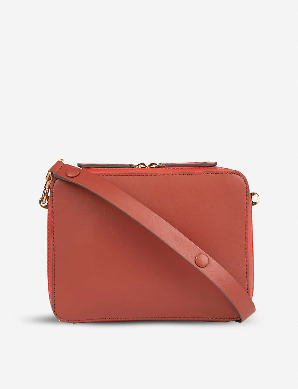 13eee01c57 ANYA HINDMARCH - The Stack Double leather cross-body bag ...