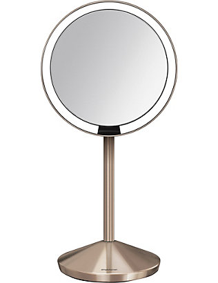 SIMPLE HUMAN: 12cm rose gold-toned travel sensor mirror